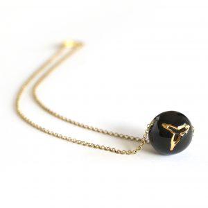 collana catena nero oro